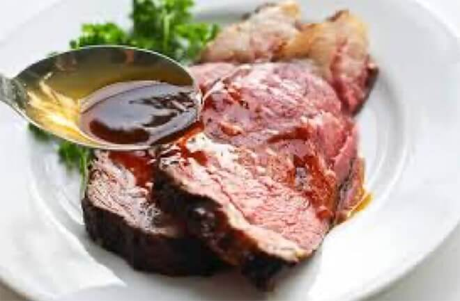 Crusted Prime Rib with Au Jus