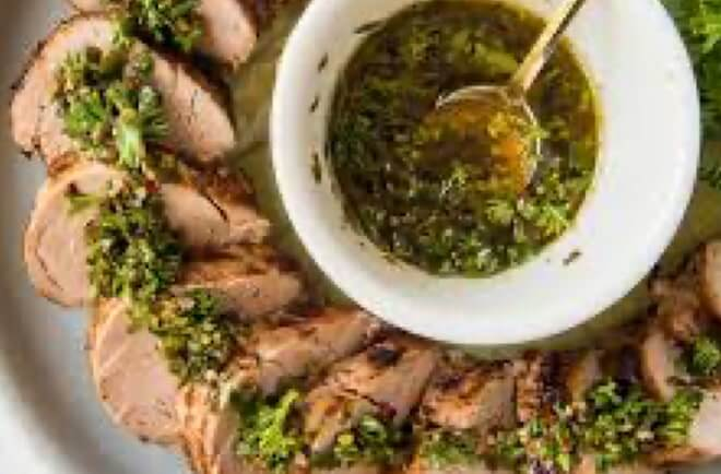 Pork Tenderloin with Chimichurri